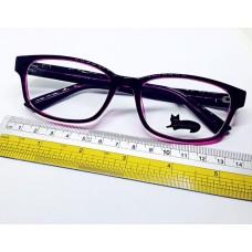 กรอบแว่นตา สีม่วงเข้ม เนื้อพลาสติก