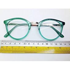 แว่นตาสีเขียวทรงกลม